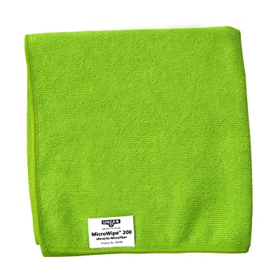 "Unger ME400 MicroWipe Ultralite Microfiber Cloth, 16"" Length x 16"" Width, Green (Case of 10): Industrial & Scientific"