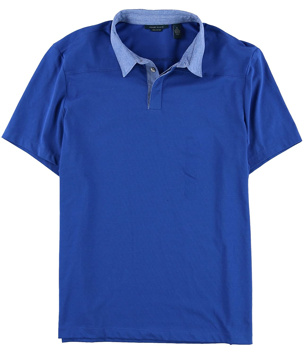 Perry Ellis Mens Mixed Media Travel Luxe Polo Shirt