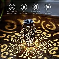 LED Luz Colgante Solar del Jardín, Farol Solar Exterior Luces de Linterna Lámpara IP44 Impermeable Portátil Metal de…