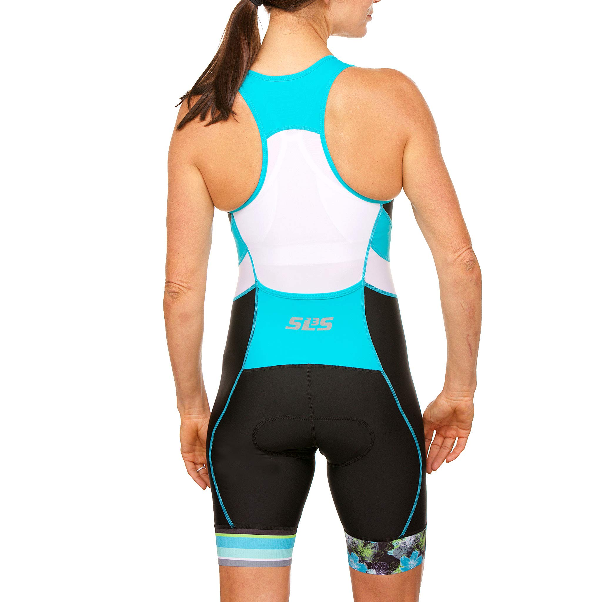 SLS3 Women`s Triathlon Suit FX | Womens Trisuits | 1 Pocket Triathlon Gear Suits Women | Anti-Friction Seams Womens Tri Suit | German Designed (Black/Martinica Blue, XL) by SLS3 (Image #7)