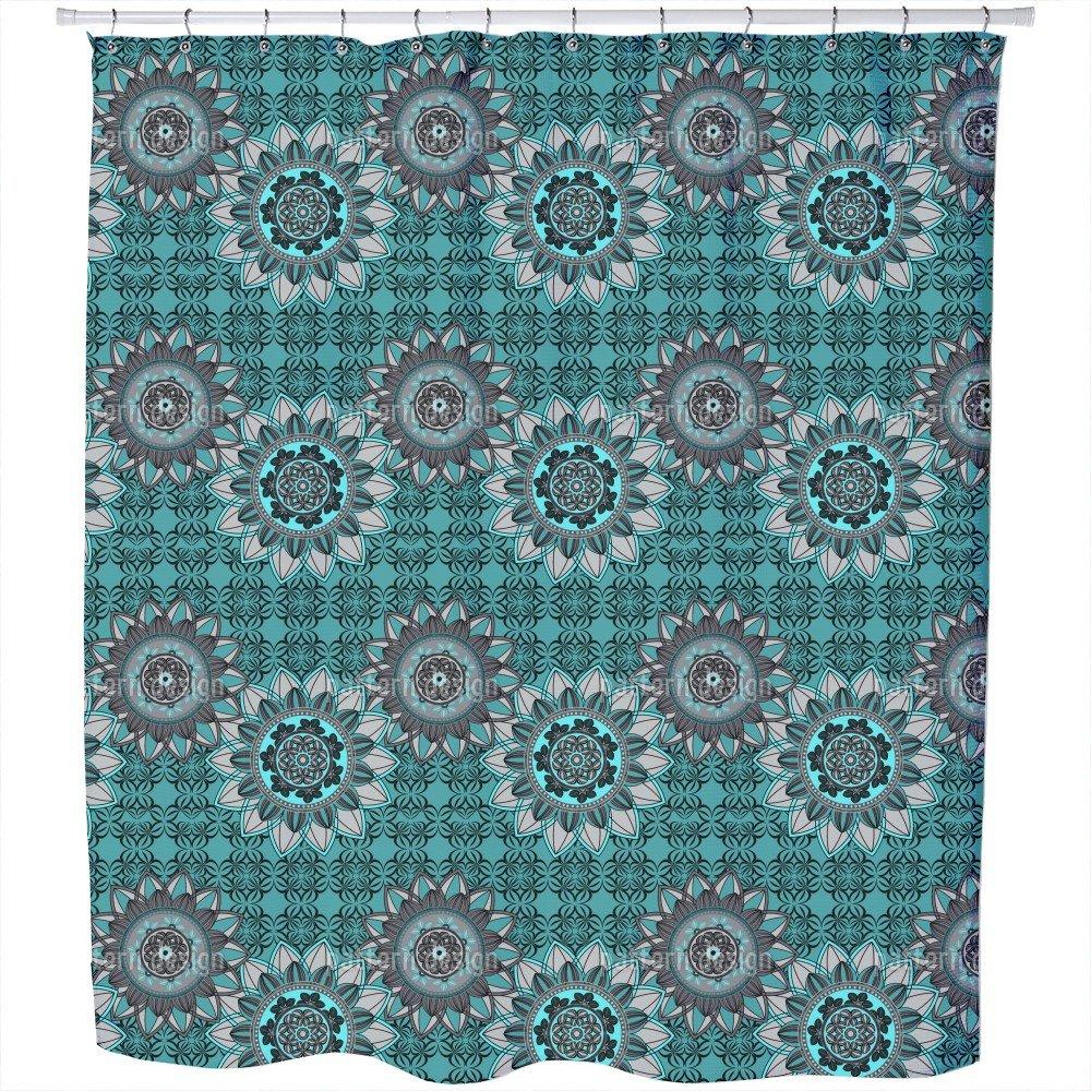 Mandala Mix Shower Curtain: Large Waterproof Luxurious Bathroom Design Woven Fabric