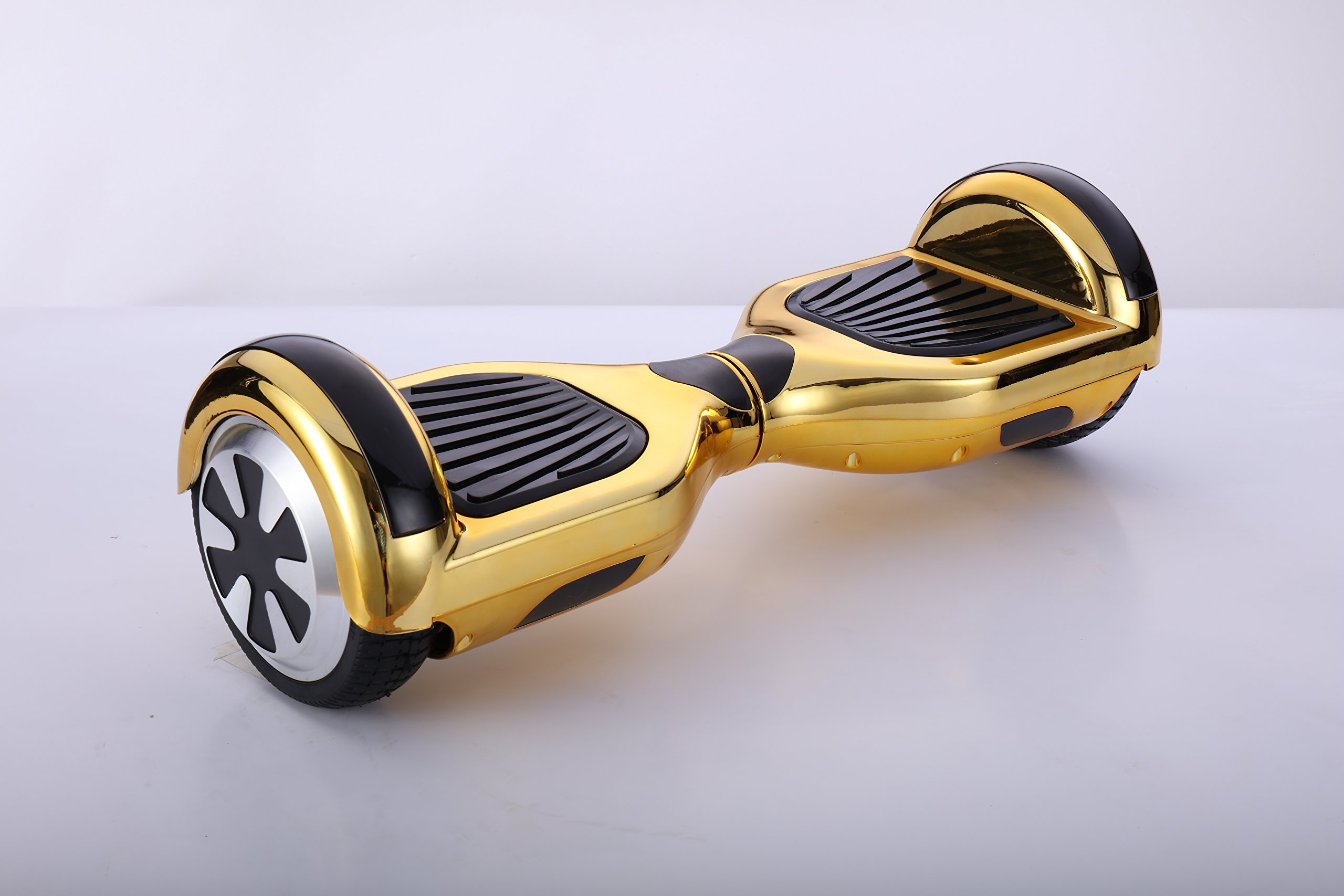 SMART BALANCE 6.5'' HOVERBOARD WITH BLUETOOTH - UL 2272 - UN 38.3 SAFETY CERTIFIED PERSONAL TRANSPORTATON (CHROME GOLD) by SMART BALANCE HOVERBOARDS