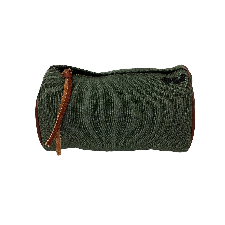 Sac /à Bandouli/ère en Coton et Cuir Vert Kaki Sac /à V/élo Guidon ou Pochette /à Selle