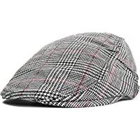 Flat Caps for Men, Unisex Newsboy Snap Hat Retro Ivy Gatsby Hunting Cabbie Driving Cap
