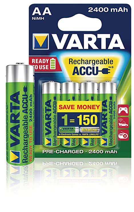Varta Endless AAA 950mAh Rechargeable Battery Níquel-Metal hidruro (NiMH) - Pilas (Rechargeable Battery, Níquel-Metal hidruro (NiMH), 1,2 V, 4 ...