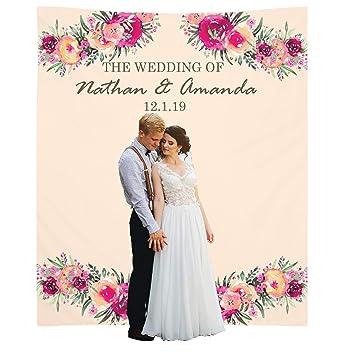 Amazon Personalize Wedding Backdrop 51x60 Inches Decorations
