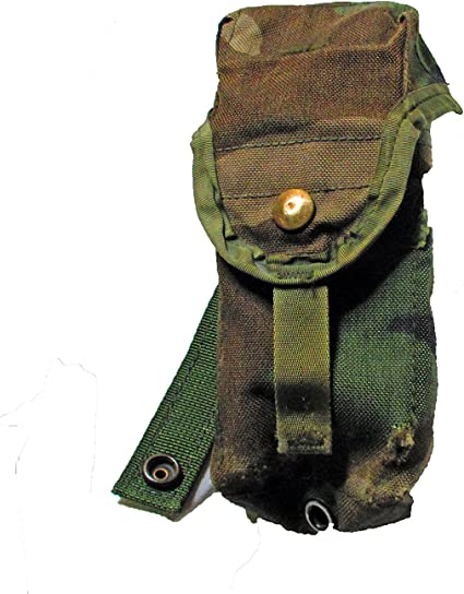 Us Army M16 A2 Triple Magazine Pouch Woodland Camouflage