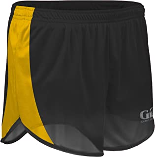"""product image for TR-687W-CB Women's 4"""" Lightweight Track Short with Side Panels and Inner Brief (XX-Large, Black/Gold)"""