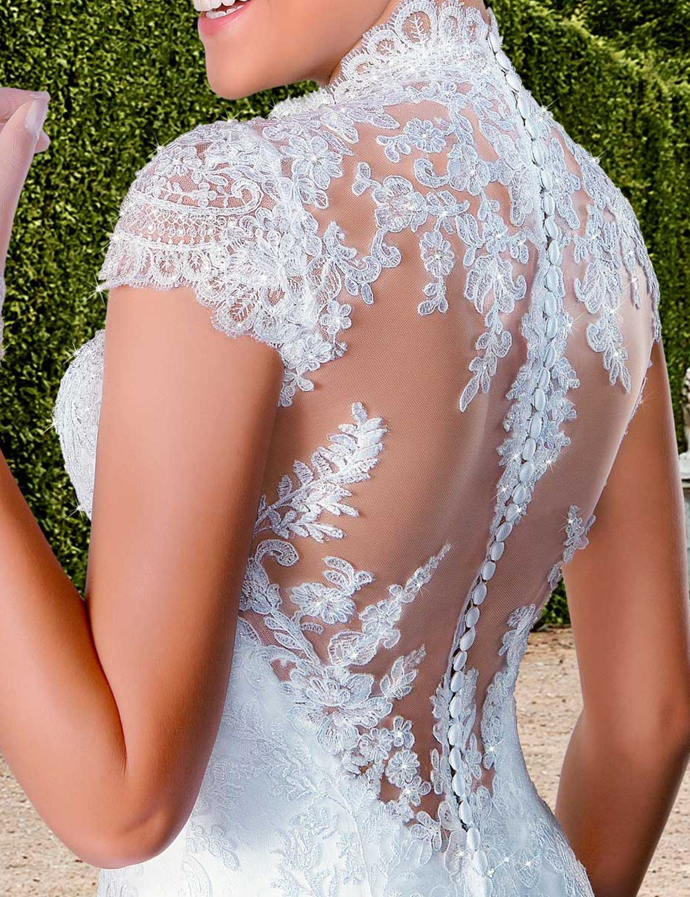 Lace Long Wedding Dress Sleeveless Sweetheart Mermaid With Applique White (size16)