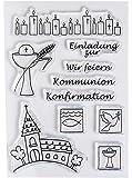 Sello de goma transparente para Comunión/confirmación, transparencia, A7/74 x 105 mm, 10 teilig