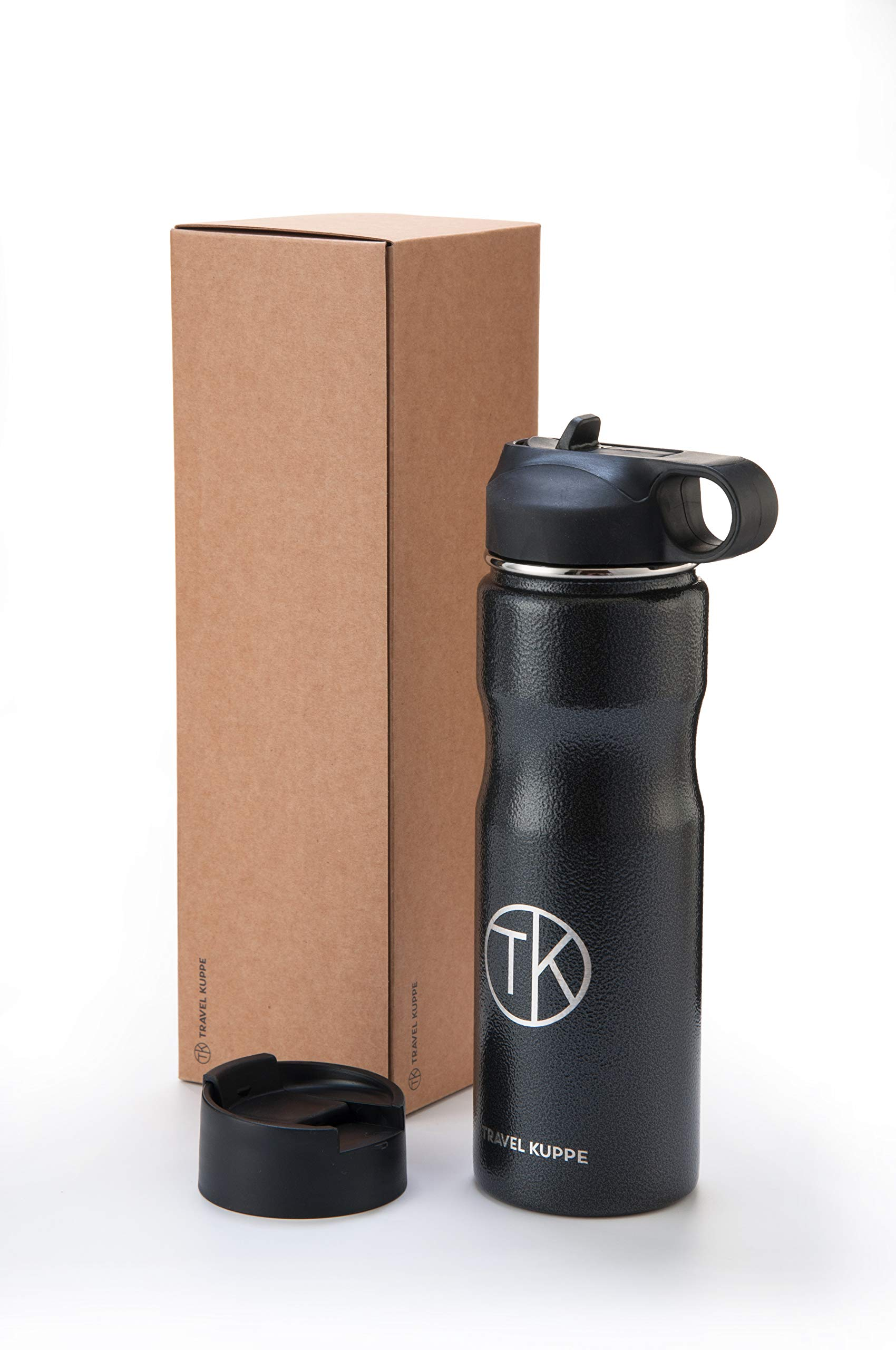 Travel Kuppe Vacuum Insulated Stainless Steel Cycling Sports Water Bottle, Includes Both Straw and Sip Lid by Travel Kuppe (Image #2)