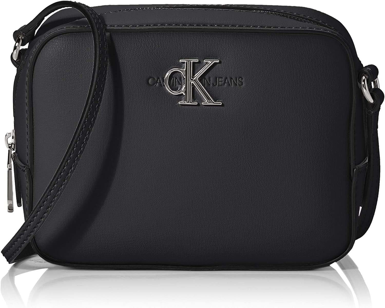 calvin klein jeans women's monogram cross body bag black