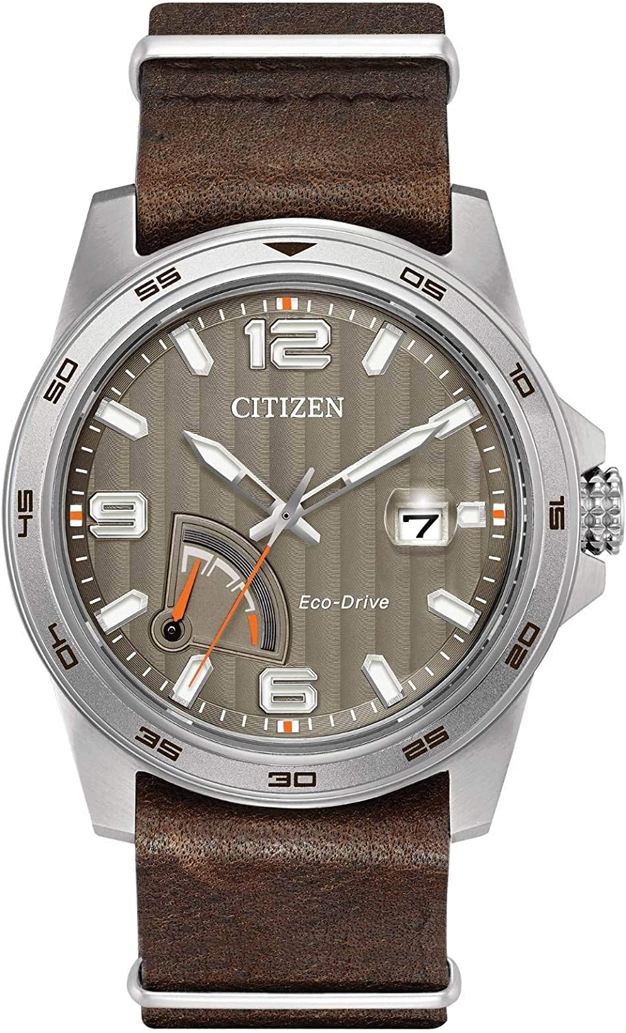 Citizen Men s Eco-Drive Stainless Steel Citizen Leather Strap Watch
