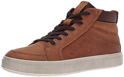 ac2eee824d7a ECCO Men s Kyle High Top Fashion Sneaker Amber 39 EU 5-5.5 ...