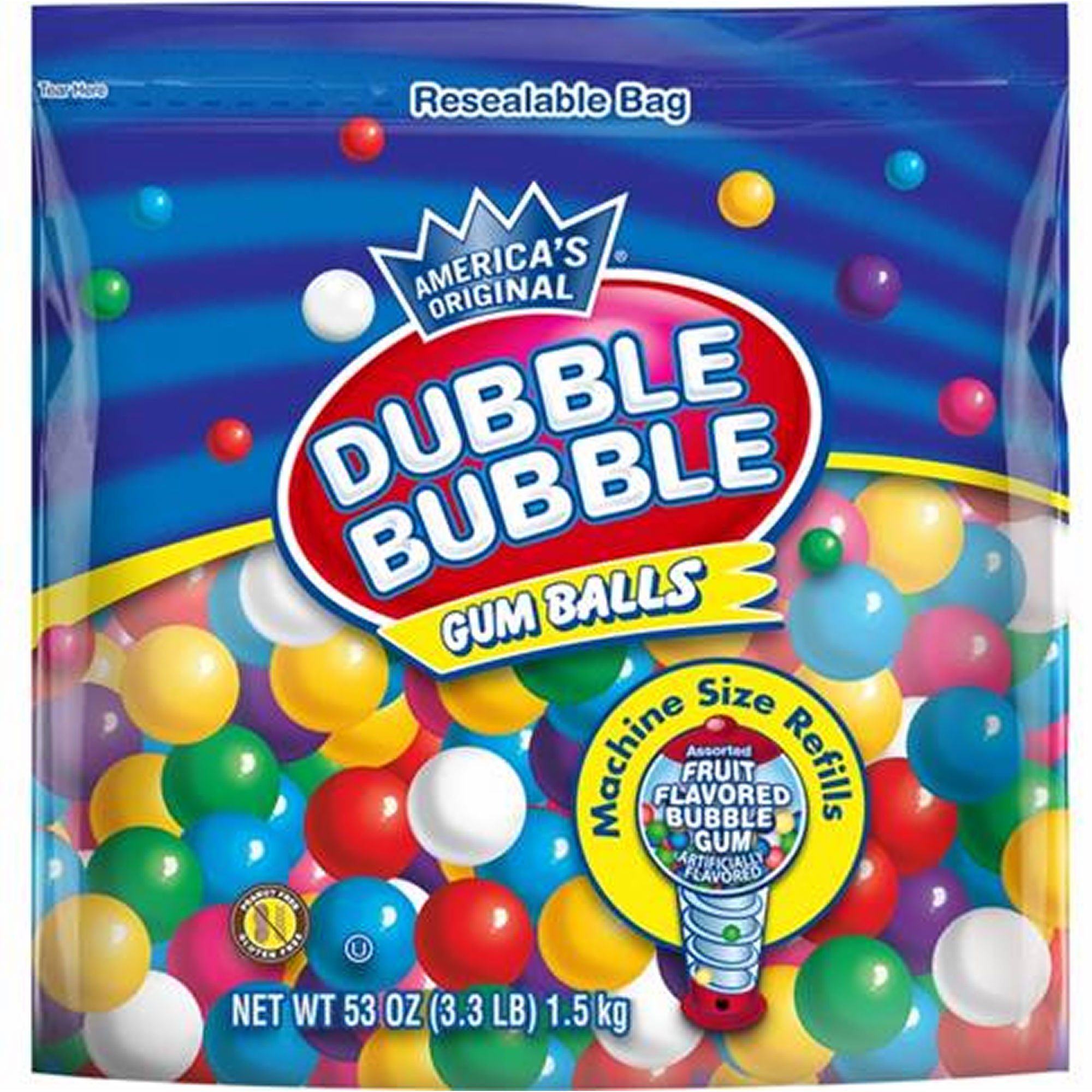 Dubble Bubble Gum Ball Refills, 53 oz. (pack of 2) by Dubble Bubble