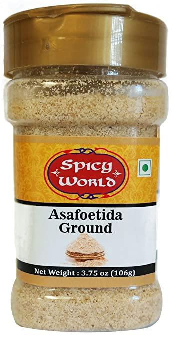 Spicy World Asafetida (Hing) Ground 3.75oz (106g), Potent, Convenient Shaker Bottle