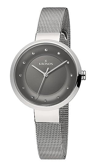 Kronos - Ladies Black 997.8.52 - Reloj de señora de cuarzo, brazalete de