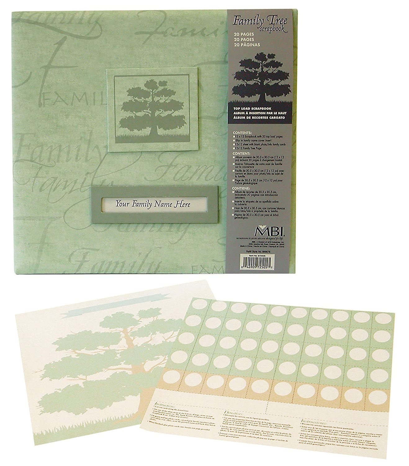 How to scrapbook your family tree - Amazon Com Mbi By Mcs Family Tree Scrapbook Album 12 By 12 Inch Sage Arts Crafts Sewing
