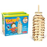 jeujura jouet en bois construction tecap classic baril 100 planchettes - Tecap Color