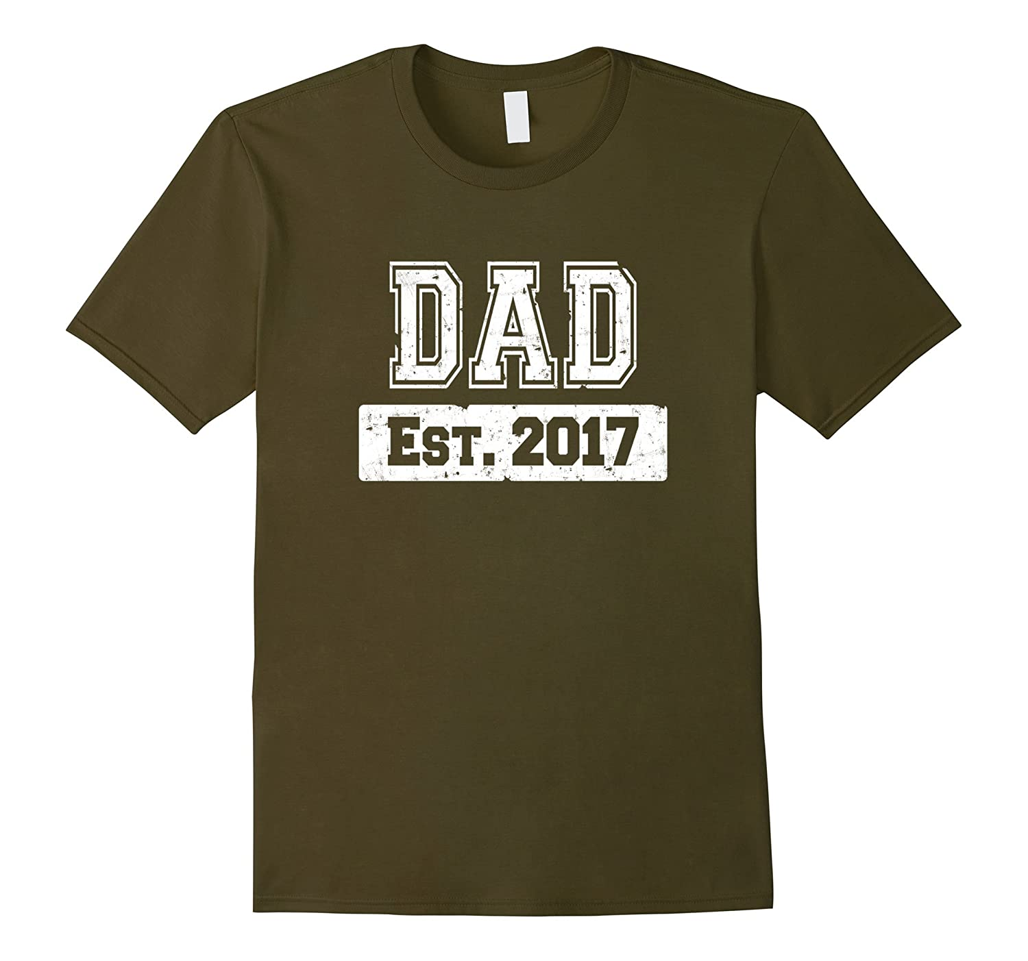 Mens Christmas 2017 First Time Dad Gift T-Shirts-TH