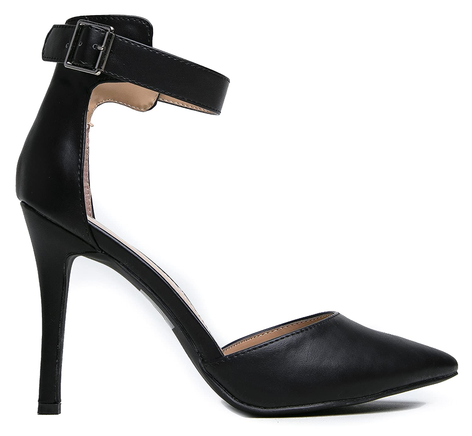 Amazon.com   Breckelle's Women's Pointed Toe Ankle Strap High Heel ...