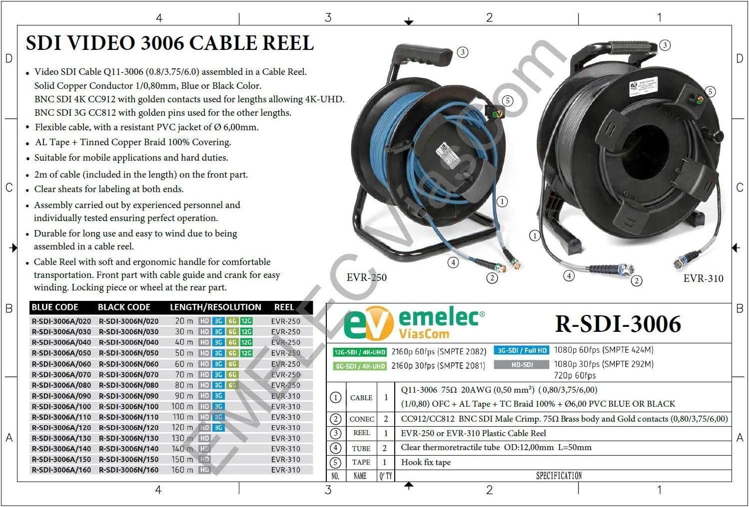 Emelec Víascom R Sdi 3006a 050 50 M Video Kabel Elektronik