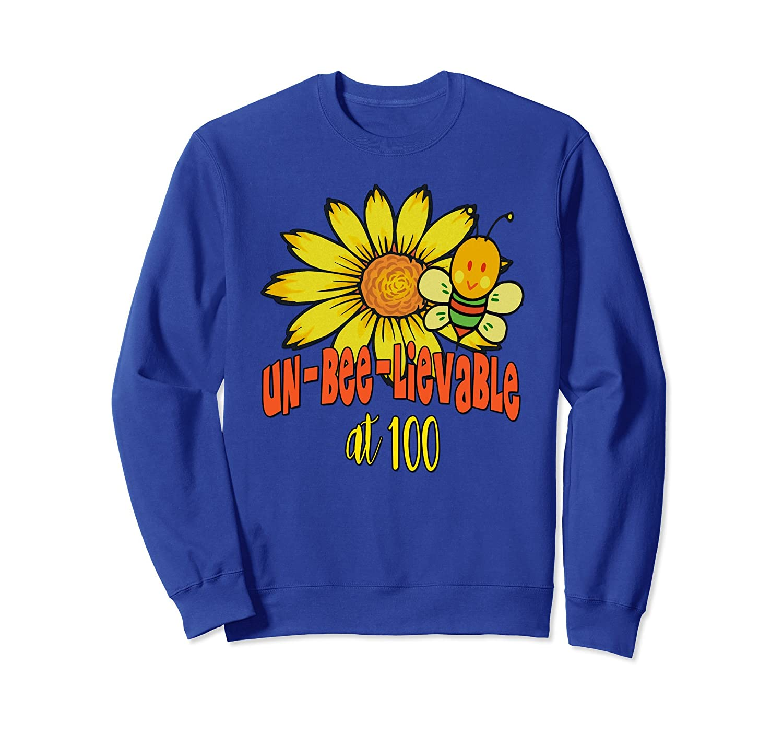 Unbelievable 100 Birthday Sweatshirt Fun 100th Birthday Gift-mt