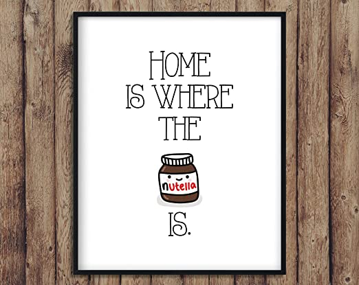 CELYCASY Home Is Where The Nutella Is, Cartel de Madera ...