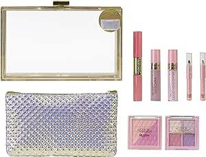 Beauty Clutch Sweetheart - The Color Workshop - Estuche de Maquillaje Transparente con Kit de Maquillaje Profesional Completo y Bolso Formato Clutch para Crear Todos tus Looks Favoritos: Amazon.es: Belleza
