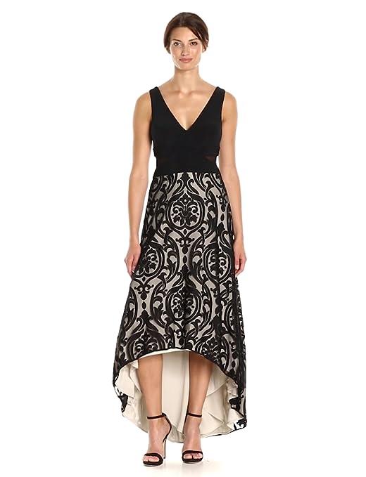 0acea5fc Xscape Women's Hi Lo Dress with Velvet Detail at Amazon Women's Clothing  store:
