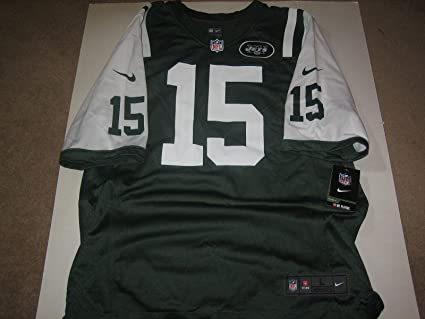7533f44fd Brandon Marshall Jets On Field Authentic Nike Home Football Jersey Adult L  New - Unsigned NFL