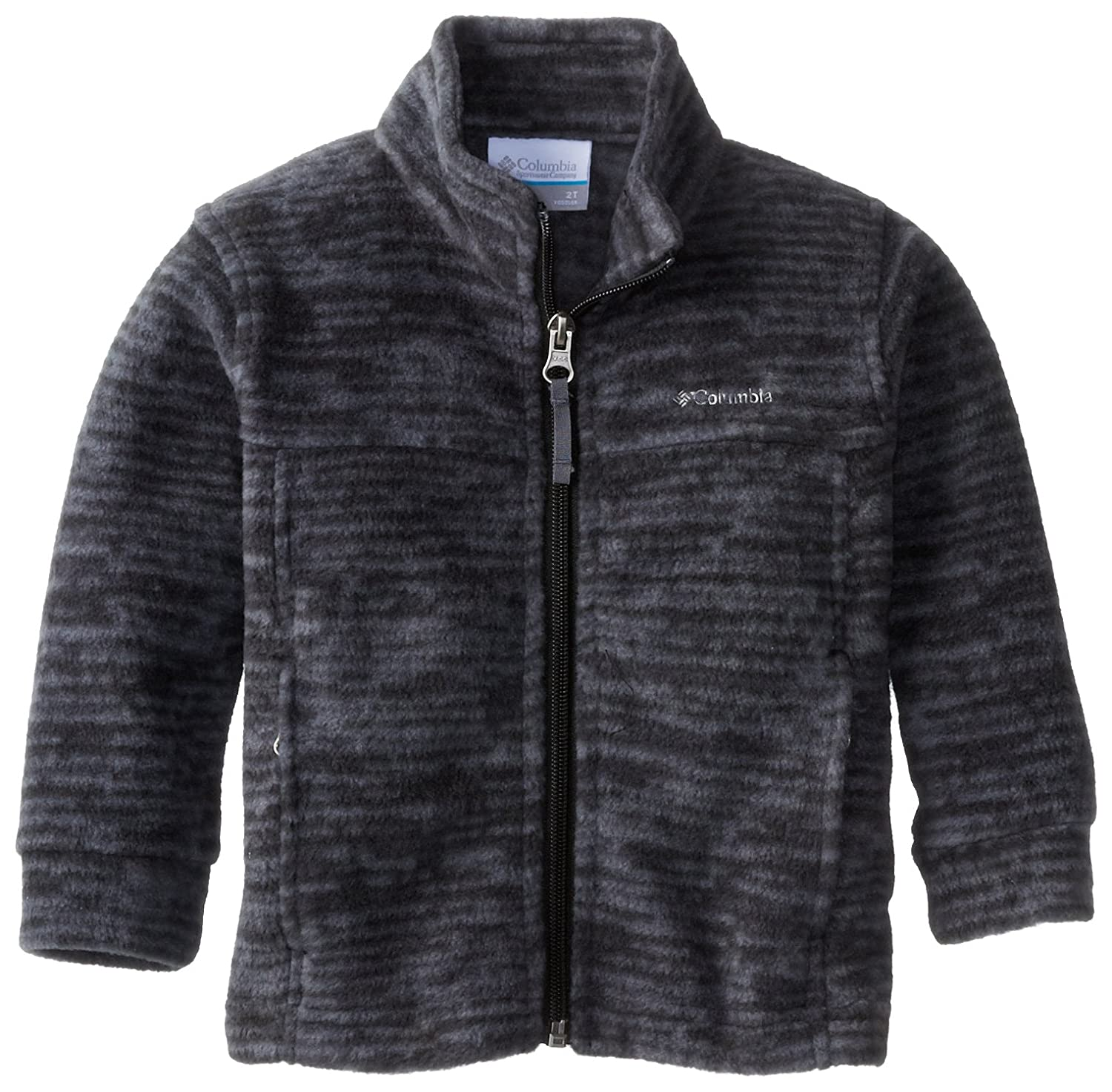 Columbia Boys' Zing Ii Fleece Jacket Black/Distress Stripe 4T WD6761