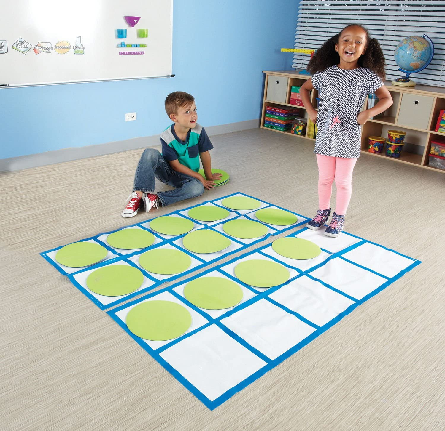 Learning Resources Ten-Frame Floor Mat Activity Set place value manipulative