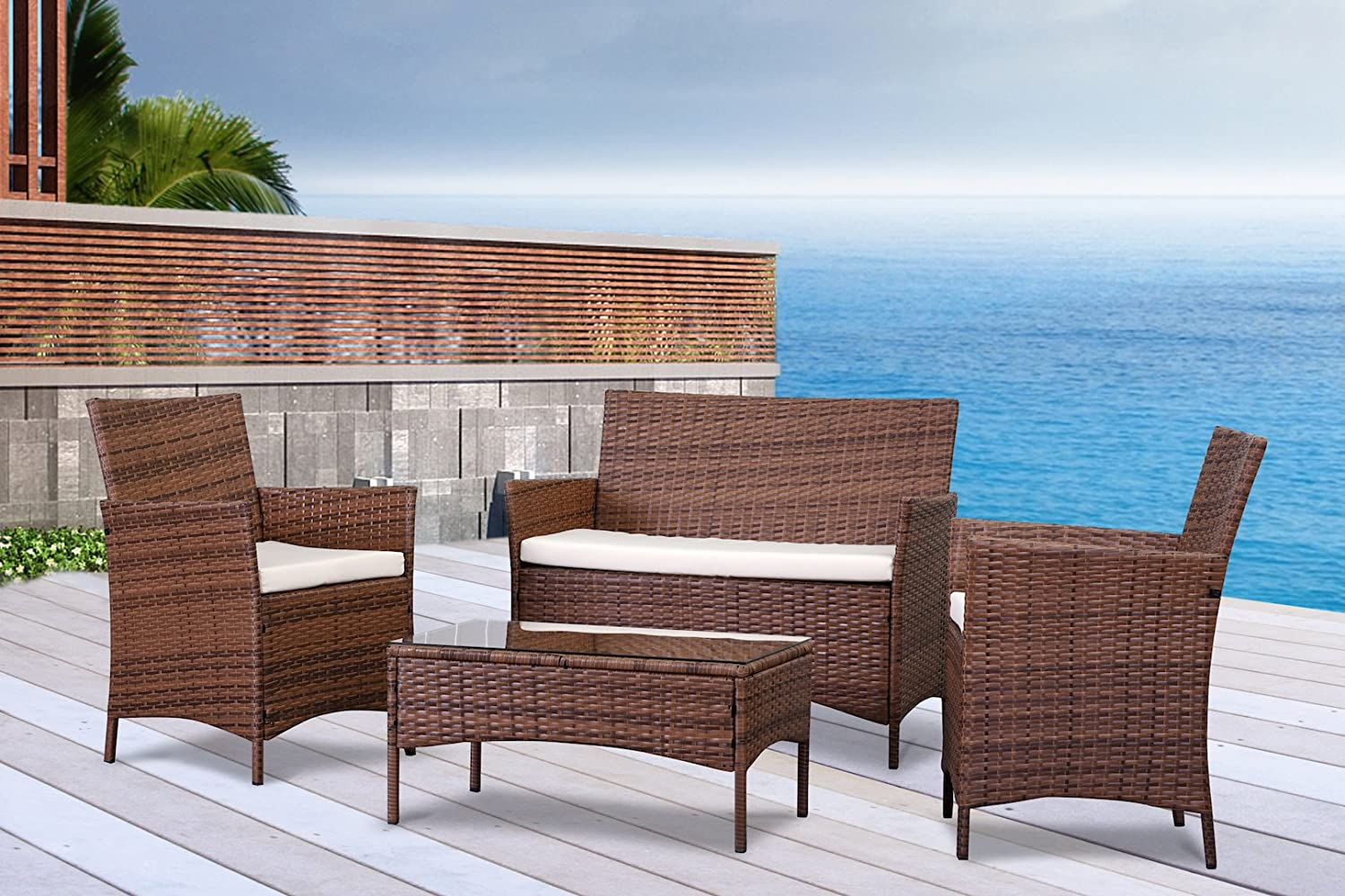 collection green outdoor lighting pictures patiofurn home. the french riviera collection 4 pc outdoor rattan wicker sofa patio furniture set choice of u0026 cushion color light brown ivory cushions green lighting pictures patiofurn home amazonca