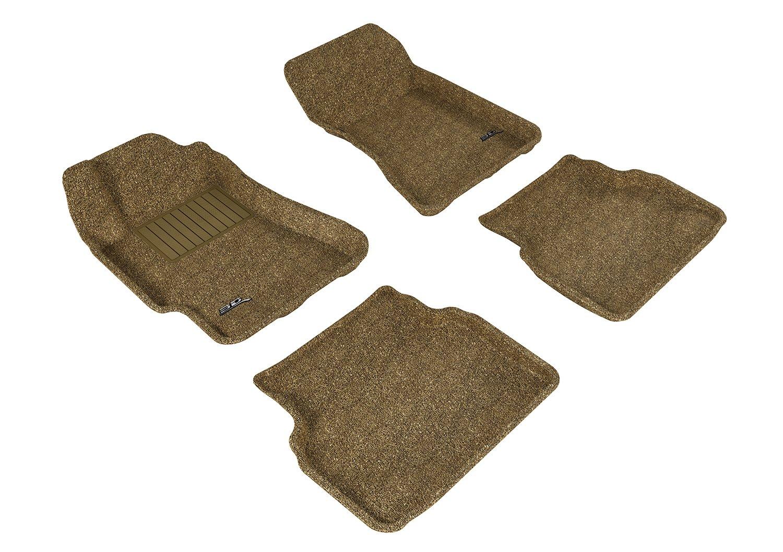 L1SB01022201 Gray 3D MAXpider Second Row Custom Fit Floor Mat for Select Subaru Impreza Models Classic Carpet