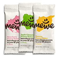 MeWe Baby | Healthy Peanut Butter Snacks | First Solid Food, 6+ Months (6-count...