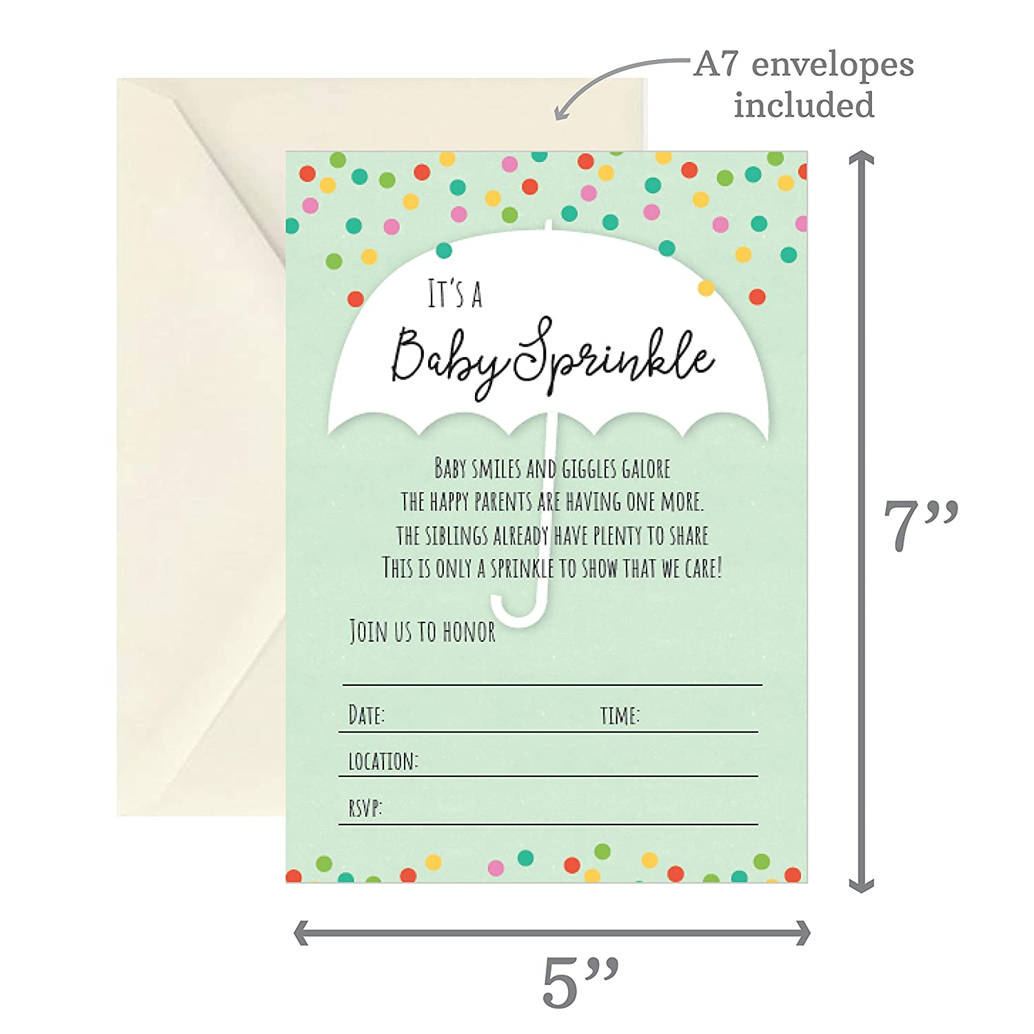 Baby Shower Invitations For Boys Design The Best For The Special Amazon.com: Baby Sprinkle-baby Shower Invitation, Set Of 20 Fill In The  Blank Invitations - Invites For Boy Girl Shower, Siblings, Second Kid:  Health ...