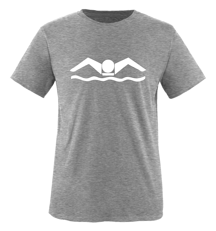 100/% Baumwolle Rundhals Top Basic Print-Shirt Comedy Shirts Schwimmer Jungen T-Shirt