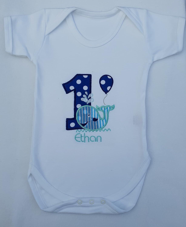 Personalised Bodysuit Boys 1st Birthday Day One Cake Smash Bodysuit Baby Vest