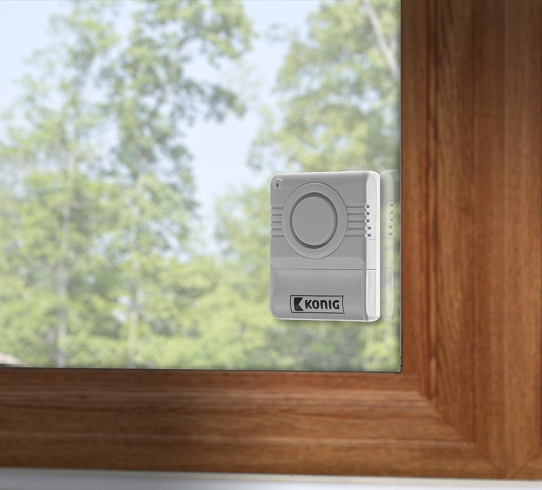 /2/pieza Ventana Alarma de rotura Sensor critales Alarma Alarma Alarma Sistema de alarma mini Detector de rotura de vidrio /Protecci/ón antirrobo antirrobos Sirena/ Eurosell/