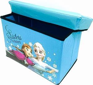 Frozen. Disney Princess Elsa Anna & Olaf Foldable Storage Box & Stool (Blue)