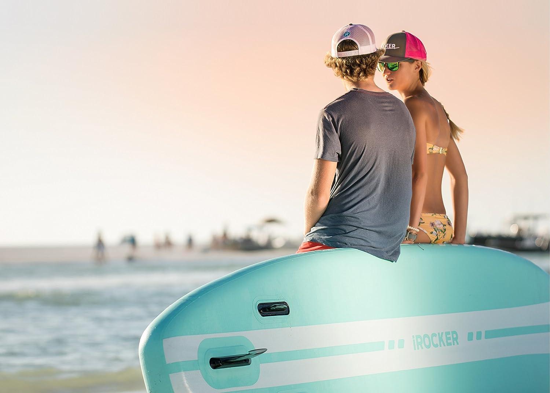 Tabla de paddle surf hinchable iRocker All-Around de 304 cm de largo x 81 cm de ancho x 15 cm de espesor, bolsa SUP, SeaFoam Green 2018: Amazon.es: Deportes ...