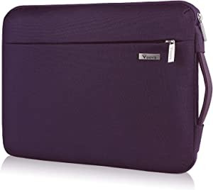 Voova Laptop Sleeve Case 11 11.6 12 inch with Handle, 360° Protective Waterproof Computer Cover Bag Compatible with Surface pro 7 6, MacBook Air, Ipad pro 12.9, HP Acer Asus Chromebook, Purple