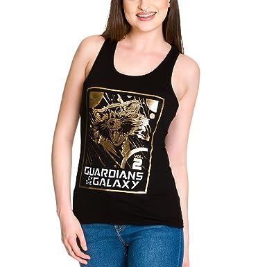 Guardians of the Galaxy Vol 2 Damen Girlie Tank Top Rocket Raccoon Schwarz  Baumwolle: Amazon.de: Bekleidung