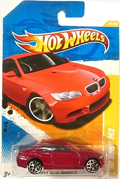 Amazon Com 2011 Hot Wheels New Models 10 Bmw M3 Red On 2 Car Bands