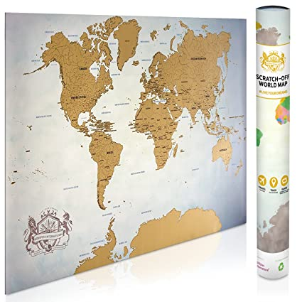 Amazon scratch off map of the world 337 x 24 world map scratch off map of the world 337quot x 24quot world map poster gumiabroncs Gallery