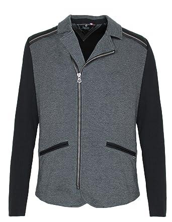 b49a02f977c Japan Rags Blouson Drook Grey Black  Amazon.co.uk  Clothing