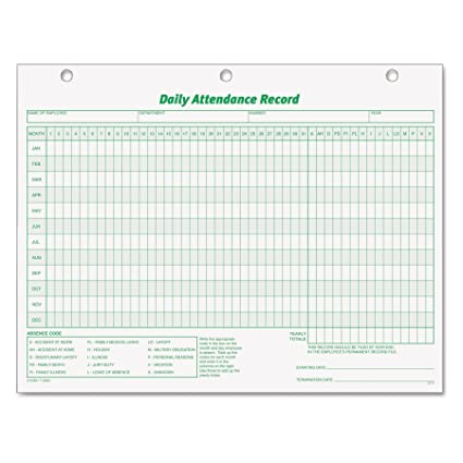 Phenomenal Tops 3284 Daily Attendance Card 8 1 2 X 11 Pack Of 50 Forms Download Free Architecture Designs Scobabritishbridgeorg