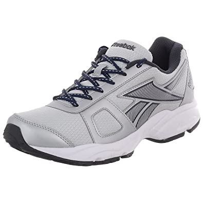 Reebok Men's Tech Speed Silver Navy And White Mesh Running Shoes - 11 UK  Size