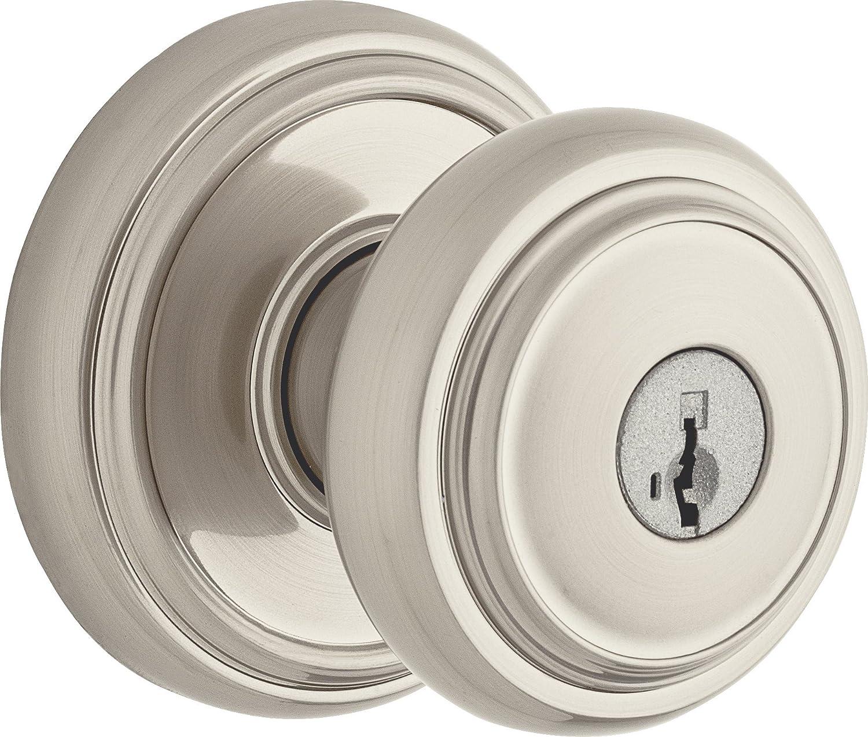 Weiser Wickham Knob for Bedroom//Bathroom Interior Door Handle Satin Nickel 9GCA3310-024